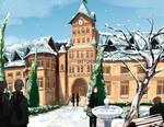 School Entrance Winter