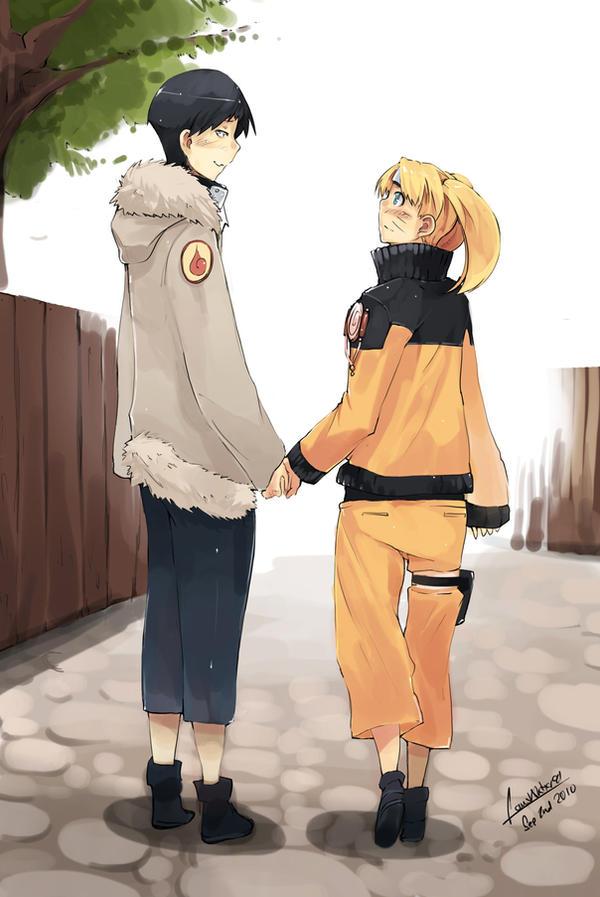Naruto + Hinata gender bender by faustsketcher