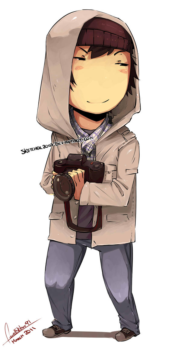 Chibi Photographer By Faustsketcher