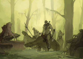 The Orkwood Swamps by faustsketcher