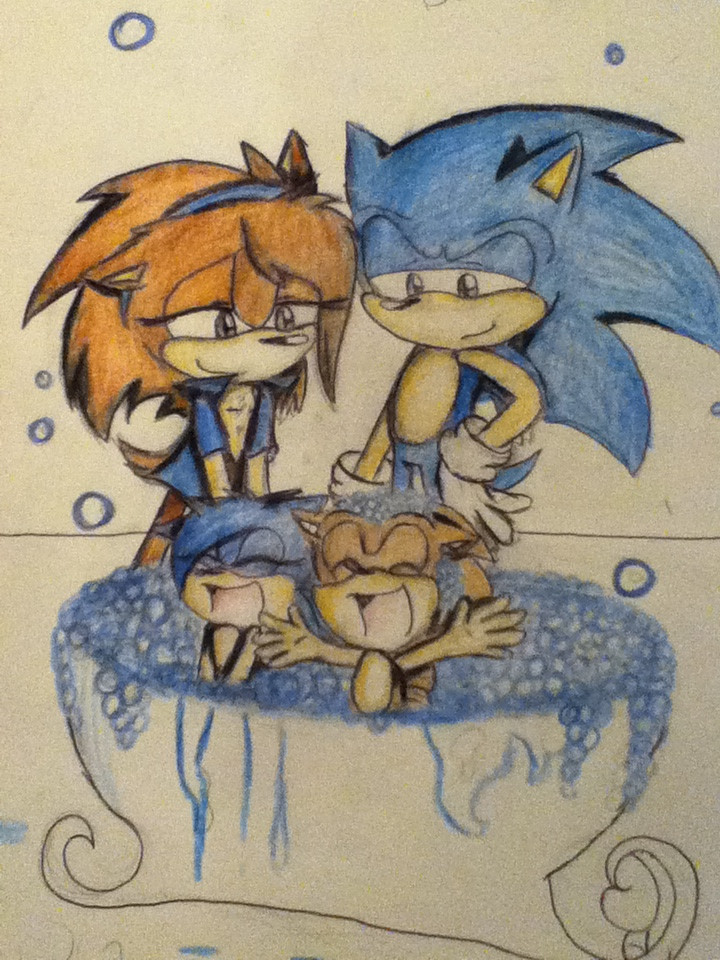 AT Sonic X Sonar BATHTIME KIDS by MoonlightVegas