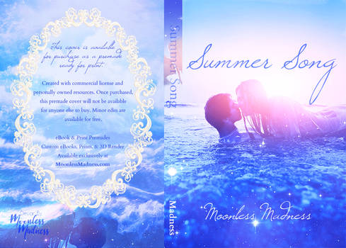 Summer Song - Premade Book Cover
