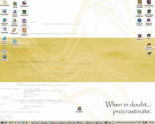 Procrastination, the desktop by metta