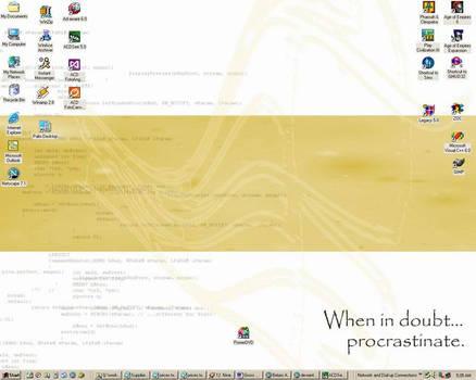 Procrastination, the desktop