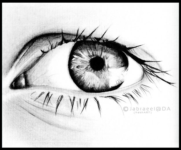 Eye a pencil drawing by jabraeel