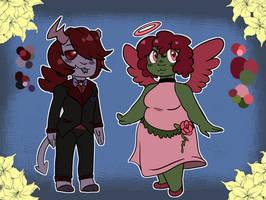 Free/OTA: Rose Demon and Angel (PENDING) by hellraisins