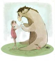 Eeyore and Piglet by Russalad