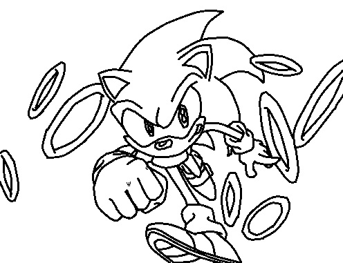 gold sonic coloring pages - photo#16