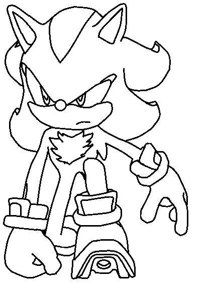 Shadow Coloring Page 01 by TheWritingGamer on DeviantArt