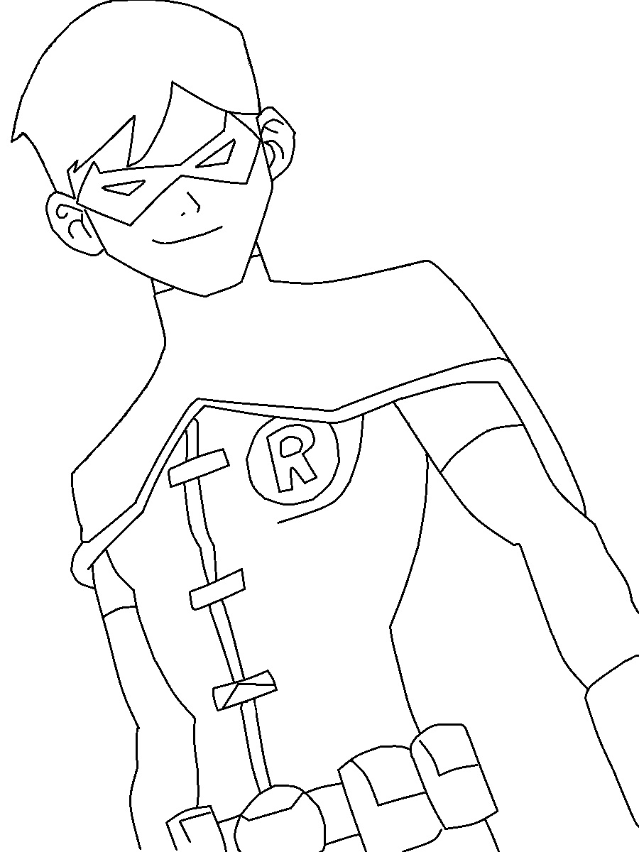 Young Justice Robin Coloring Page by TheWritingGamer on DeviantArt