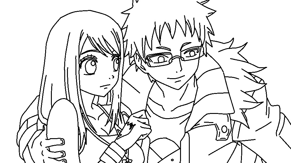 Fairy Tail Loke And Lucy Coloring Page By TheWritingGamer
