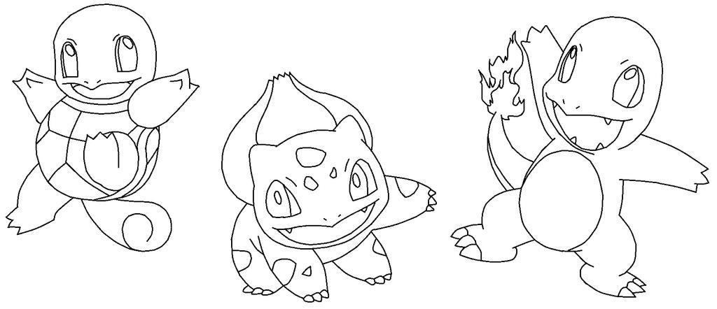 Pokemon Starters Gen 1 Coloring