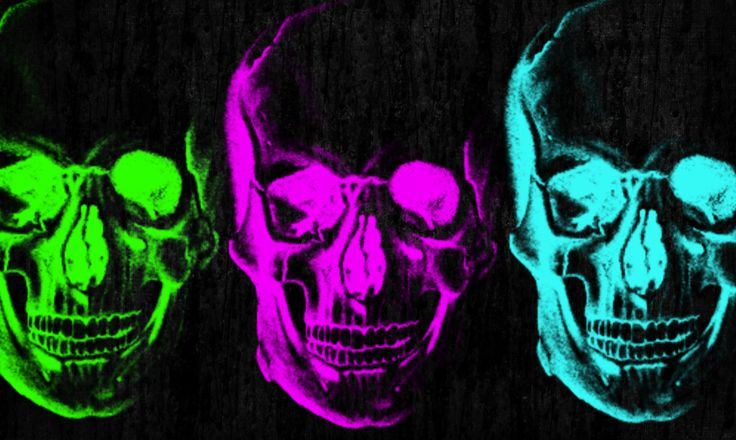 Incredible Neon Skull Wallpaper: Neon Skulls By Missimadgic On DeviantArt