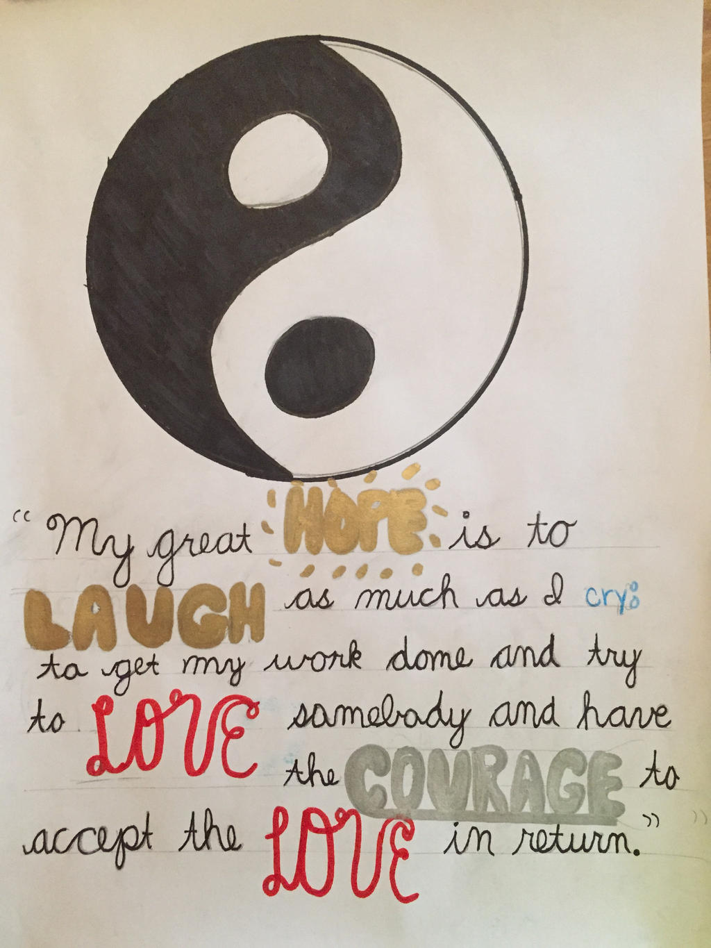 ying yang quotequinnerss on deviantart