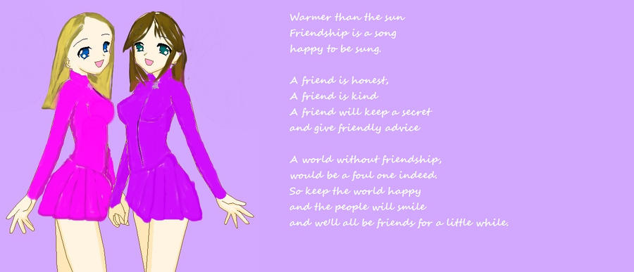 A poem about friendship by macmari on DeviantArt