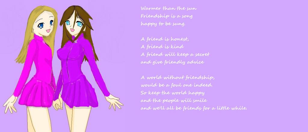 Poem about friendship re-do by macmari on deviantART