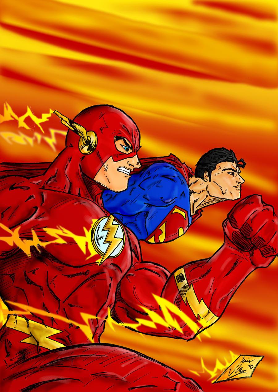 The Flash vs. Superman by Jey2K on DeviantArt