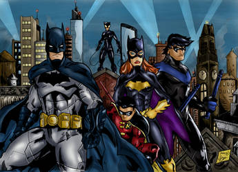 The Bat-family by Jey2K