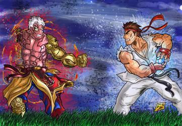 Asura Vs. Ryu by Jey2K