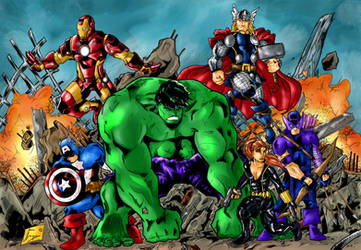 Avengers Assemble by Jey2K