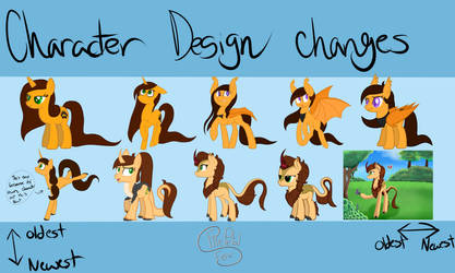 Design Changes (Then to Now) by FirePetalFox