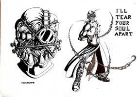 Cenobite - The gardien by TeckWolfFR