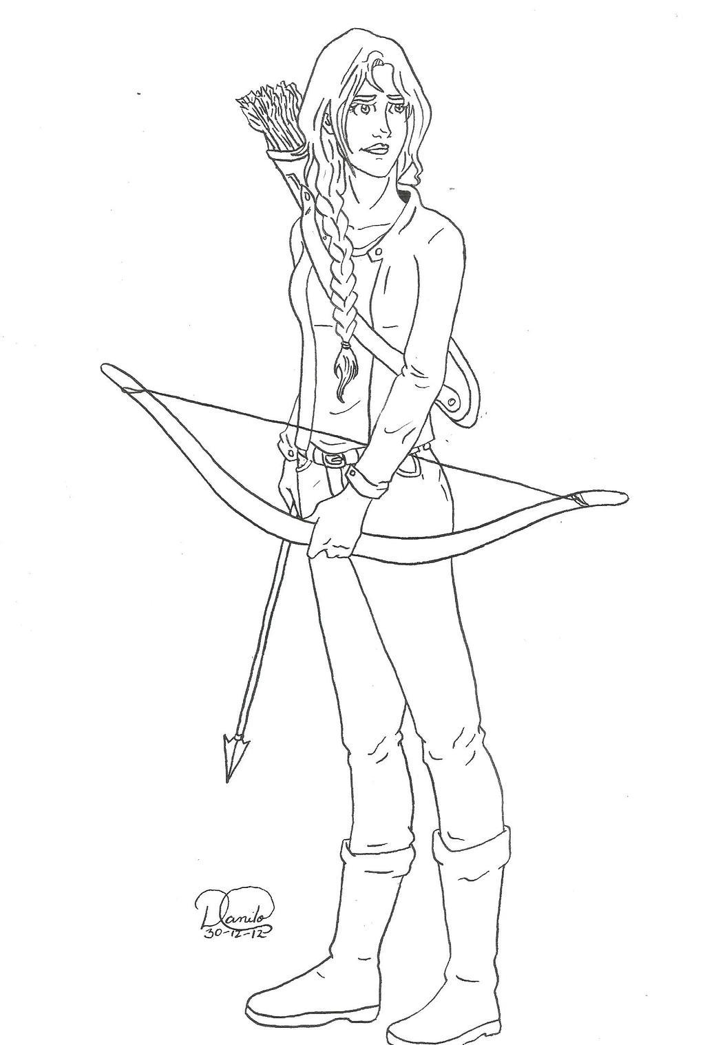 katniss everdeen by thewandmaker on deviantart
