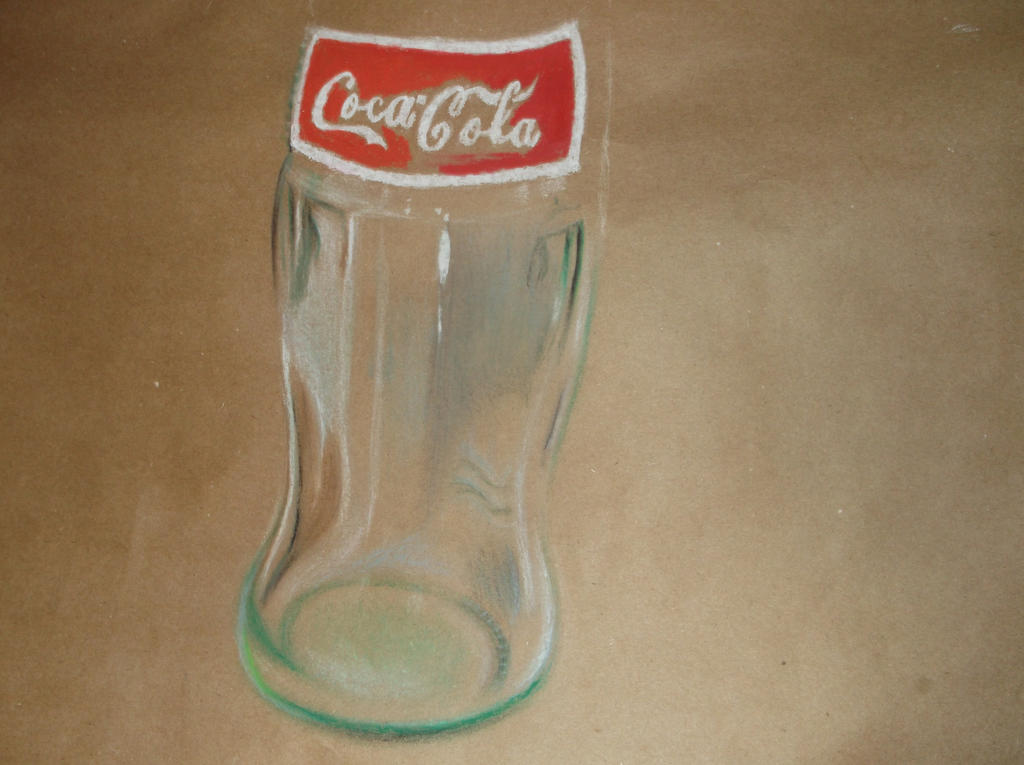 Coca Cola bottle Oil Pastel drawing (WIP2) by ...