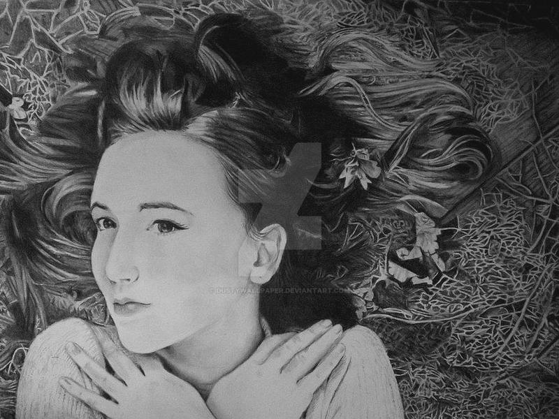 Pencil portrait drawing. by Dustywallpaper