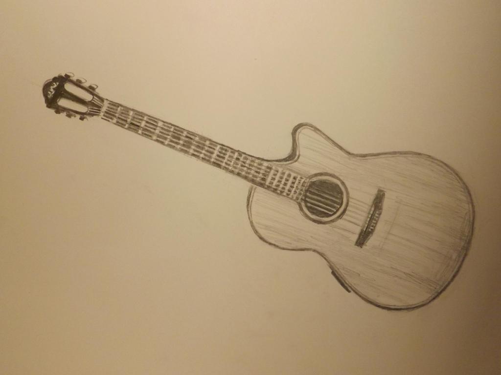 Guitar sketch. by Dustywallpaper