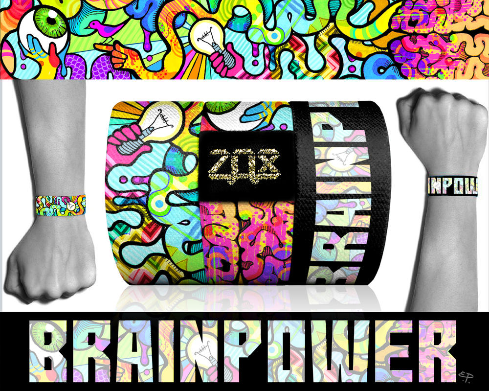 BrainPower elastic Zox Wristband by Dustywallpaper