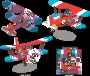 Lowpoly Biplane