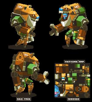 Lowpoly Alien Mech-suit thing
