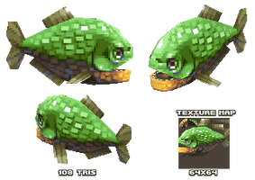 Lowpoly Piranha by KennethFejer