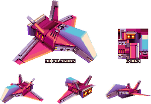 lowpoly spaceship