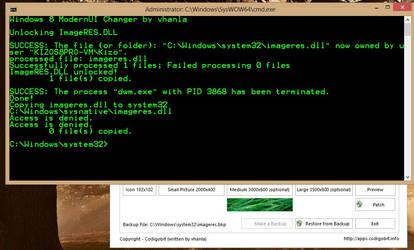 Windows 8 ModernUI Start Screen Changer