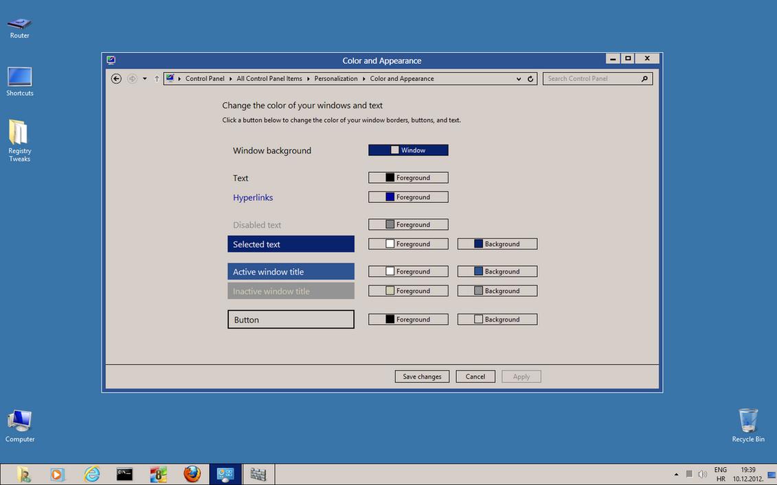 Windows 8 classic theme color change by kizo2703