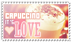 Capuccino it's LOVE, you know. Stamp by Moccatte