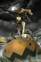 pumpkin witch by Twai