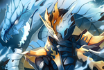 Burning dragon