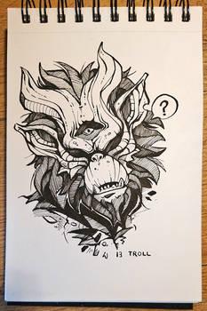 Inktober 13 - Troll