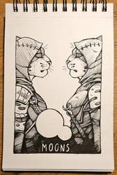 Inktober 17 - Moons