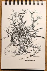 Inktober 22 - Necromancy