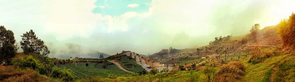 Panoramic Land of God Dieng by gundala7x