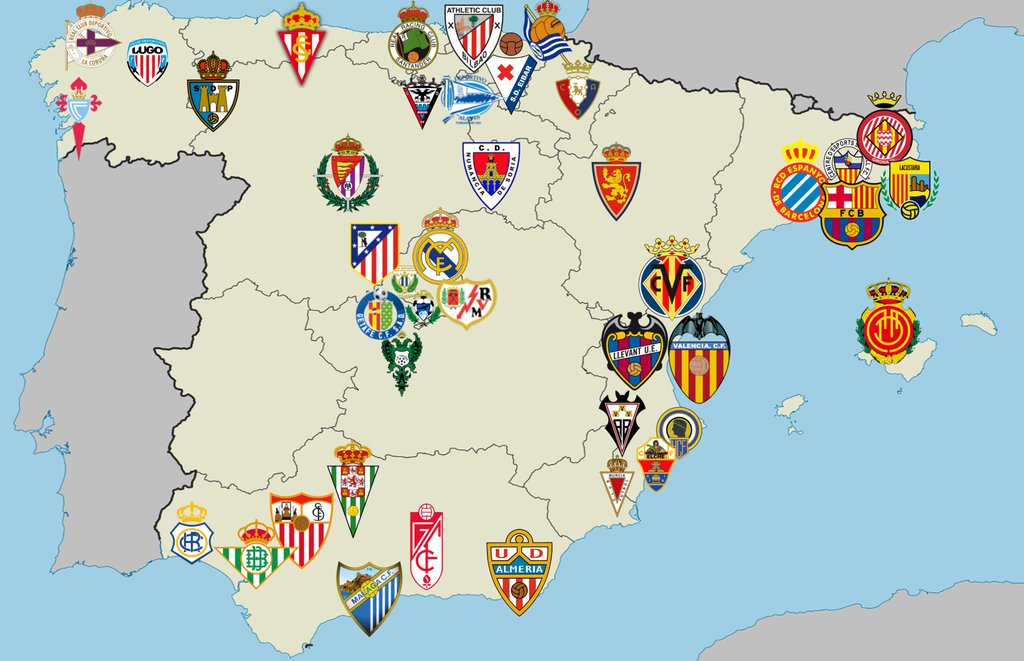 Football Map Of Spain.Map Of Spanish Football Clubs By Finalesfunkeln On Deviantart