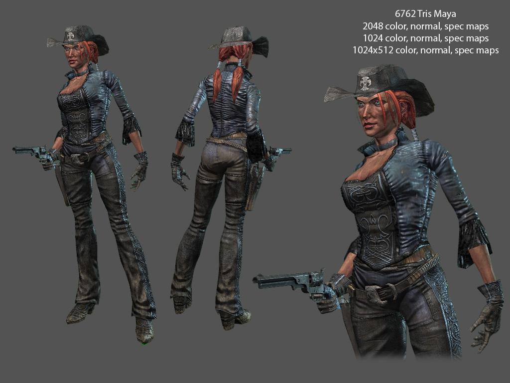 Female gunslinger by redheretic on deviantart - Gunfighter wallpaper ...