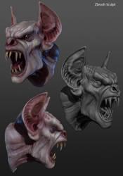 Vampire head portfolio by RedHeretic