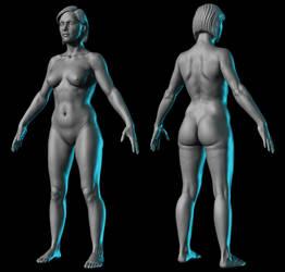 Female anatomy study by RedHeretic