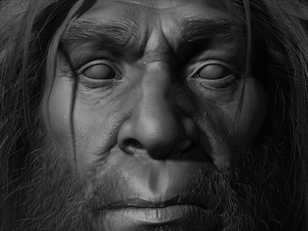Homo Erectus Zbrush Closeup by RedHeretic