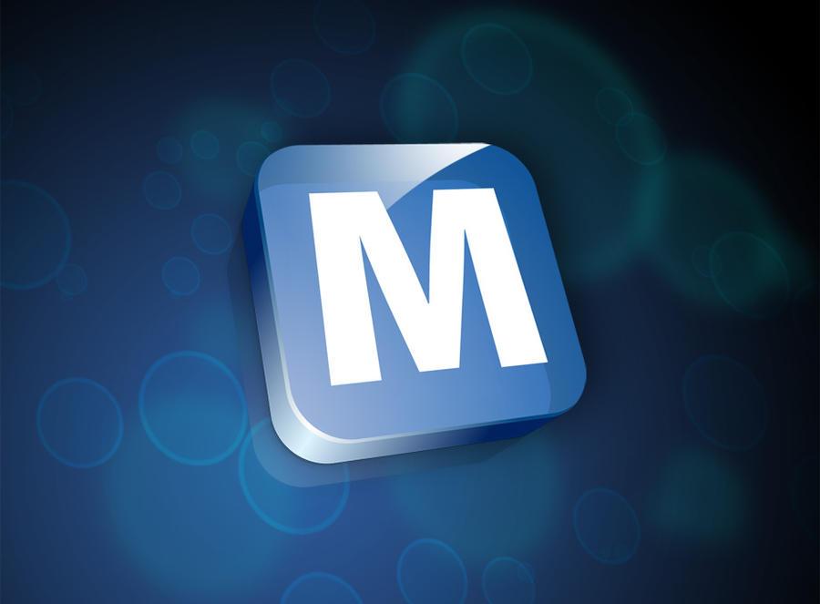 M Logo 3d M 3D Logo by ma...